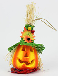 1PC Pumpkin Halloween Decorations Environmental Scarecrow Cornstalks  Pumpkin Lantern Toys For Children