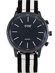 Men's Cool Quartz Casual Wrist Watch Fabric Belt Simple Personality Round Alloy Dial Watch Unique Watch