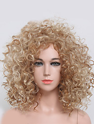 Blonde Color Wig Kinky Curly Women Fashion European and American Synthetic Wigs