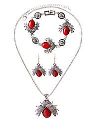 Joyas Collares / Pendientes / Pulsera Collar / pulsera / Collar / pendientes De Moda / estilo de Bohemia Diario / Casual 1 Set MujerNegro