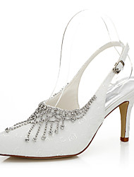 Women's Heels Spring / Summer / Fall Heels Silk Wedding / Party & Evening / Dress Stiletto Heel Chain Ivory Others