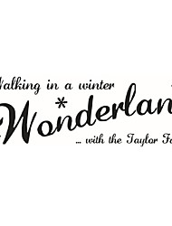 Walking In The WinterVinyl Wall Stickers Home Decor Living Room Diy Wall Art Decals Removable Sticker For Decoration