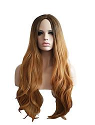 perucas cosplay preto cinzento do inclinação marrom perucas de cabelo encaracolado de cabelo de 28 polegadas de nylon
