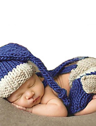 Newborn Prince Vintage Photography Prop Birthday Knitting Hat and Pants(0-6Month)