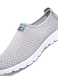Men's Waliking Shoes Comfort Tulle Party & Evening / Athletic / Casual Flat Heel Slip-on