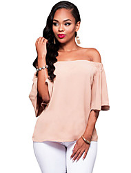 Women's Pink Off-the-shoulder Top