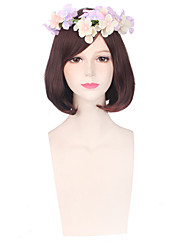Brown Color Women Cosplay Synthetic Wigs Glueless Fashion Wigs