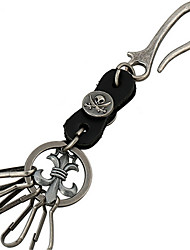 Key Chain / Punk Fashion Key Chain Black Metal / PU Leather