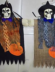 fantômes de halloween skeleton accrocher décoration pour bar-club de halloween crâne de fête à la maison en tissu pendentif déco de