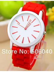 Reloj Mujer Fashion Leisure Top Brand  New Ladise Wrist Watches Special  Of Women Clock Geneva Quartz Silicone   Watch