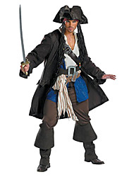 Cosplay Kostüme / Party Kostüme Seeräuber Fest/Feiertage Halloween Kostüme Schwarz einfarbig Top / Hosen / Mehre Accessoires / Hut