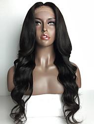 chaud!! peruvian vague de corps de cheveux humains pleine perruque de dentelle perruques 8-30inch non transformés vierges humains de