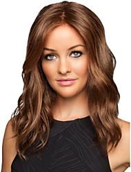 16-26 polegadas 100% não processado brasileiro virgem do cabelo humano peruca 4 # cor grande onda perucas completa