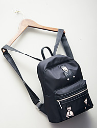 Casual Outdoor Shopping Backpack Women Oxford Cloth Black