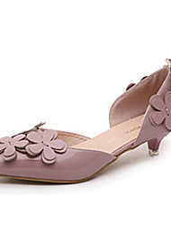 Women's Heels Spring / Summer / Fall Comfort Leatherette Outdoor / Casual Low Heel Flower