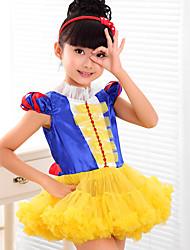 De Baile Curto / Mini Vestido para Meninas das Flores - Organza / Cetim / Seda / Tricô Manga Curta Decorado com Bijuteria comFlor(es) /
