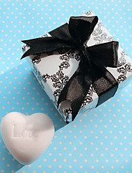 White Heart Soap Bridesmaids Shower Bridal Wedding Favor