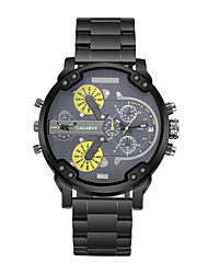 CAGARNY Men Watch/Fashion Watch / Large Dial Watch / Dual Time Zone/Japan Quartz Calendar /