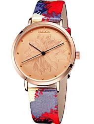 KEZZI® Women's Fashion Quartz Kezzi Watch Multi-colored PU Belt Round Flowers Dial Watch Cool Watch Unique Watch