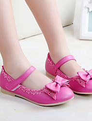 Flats Fall Light Up Shoes PU Casual Flat Heel Bowknot Blue Pink Peach Other