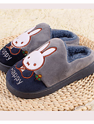 Boy's Slippers & Flip-Flops Winter Slingback Fleece Casual Flat Heel Others Blue Gray Others
