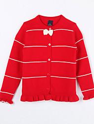 Mädchen Pullover & Cardigan-Lässig/Alltäglich Gestreift Baumwolle Herbst Rot
