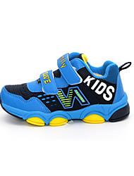 Boy's Sneakers Spring / Fall Comfort PU Casual Flat Heel Magic Tape Blue / Gray Sneaker