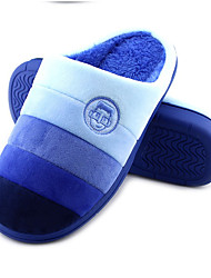 Unisex Slippers & Flip-Flops Winter Slippers Customized Materials Casual Flat Heel Others Blue / Brown / Pink