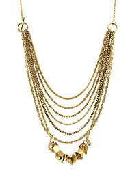 Necklace Chain Necklaces Jewelry Party / Daily / Casual Fashionable / Personality Alloy Gold 1pc Gift