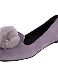Dames Platte schoenen Comfortabel Fleece Herfst Causaal Comfortabel POM Pom Platte hak Zwart Grijs Rood Plat