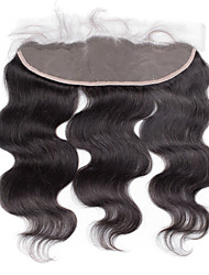 4x13 Closure Brazilian Human Hair Full Lace Frontal Closure Free Middle 3 part Light Brown Body Wave Lace Frontal