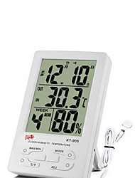 Indoor and Outdoor Large Screen Multi-Function Electronic Thermometer Hygrometer Clock With Alarm Function KT-905