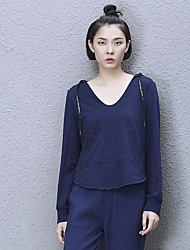 Women's Casual/Daily / Sports Simple Regular HoodiesSolid