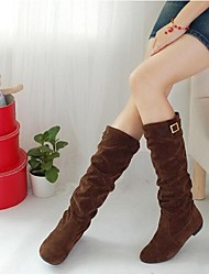 Women's Boots Fall Winter Polyester Outdoor Low Heel Others Black Brown Coffee Others