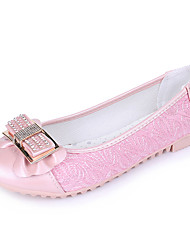 Women's Boat Shoes Summer / Fall Round Toe PU Casual Flat Heel Bowknot Pink / White Others