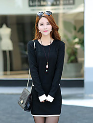 Women's Casual/Daily / Party/Cocktail / Holiday Simple / Sophisticated A  DressStriped Round