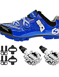 Cycling Shoes Unisex Outdoor / Mountain Bike Sneakers Damping / Cushioning Blue-sidebike And PD-M520 Lock Pedals