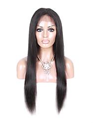 360 Лобовой Прямые Человеческие волосы закрытие Умеренно-коричневый Корейское кружево 100 грамм Средние Размер крышки