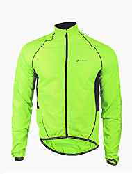 Nuckily Cycling Jacket Men's Long Sleeve Bike Waterproof Windproof Front Zipper Wearable Jacket Windbreakers Raincoat/Poncho Tops