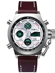 Men's Fahion Sport Watch Dual Time Zone Calendar Waterproof Noctilucent Military LED Digital Watch Analog Alarm Fashion Casual Wrist Watch