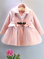 Girl's Casual/Daily Solid Down & Cotton PaddedCotton Spring Pink