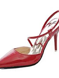 Damen-High Heels-Lässig-PU-StöckelabsatzSchwarz Rosa Rot Weiß Grau