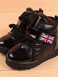 Unisex Boots Winter Snow Boots PU Casual Flat Heel Others Black / Red / White Snow Boots