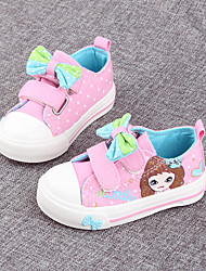Girl's Flats Spring / Fall Round Toe / Flats Canvas Outdoor / Casual Flat Heel Magic Tape Blue