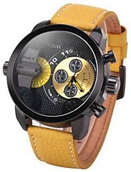 Мужской Модные часы Кварцевый / Цифровой / Кожа Группа Повседневная Черный марка