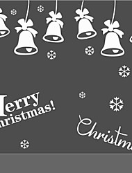 Christmas Wall Sticker Diy Xmas Bell Holiday New Year Decoration Decal Removable Mural Deco Window Vinyl Home