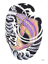 1pc Beauty Carp Water Fish Design Temporary Tattoo Waterproof Women Men Body Art Tattoo Sticker Makeup HB-253