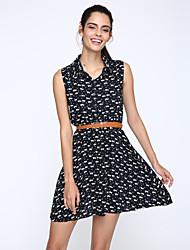 Women's Bodycon/Casual Micro-elastic Sleeveless Above Knee Dress