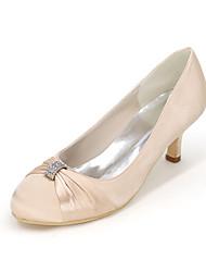 Women's Heels Spring / Summer / Fall Heels / Round Toe Silk Wedding / Party & Evening