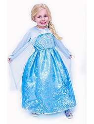 Girl's Casual/Daily Jacquard Dress,Polyester Summer Blue